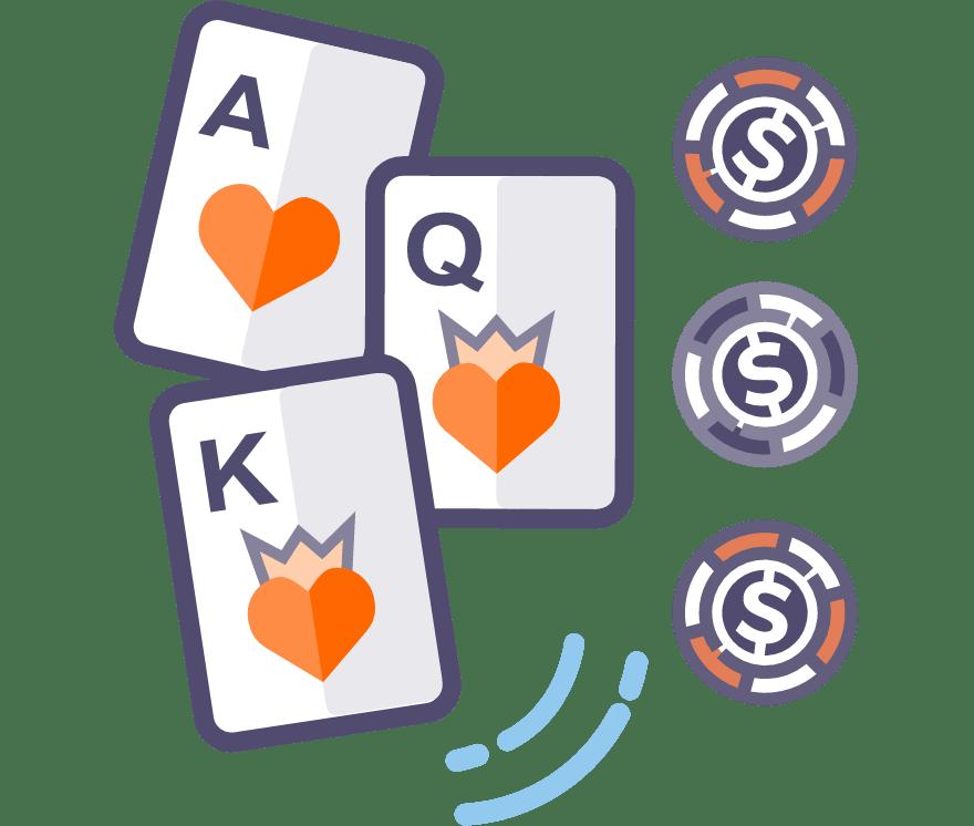 Zagraj w Poker trzykartowy online — najlepszych 38 Kasyno Mobilne z największymi wypłatami w roku 2021